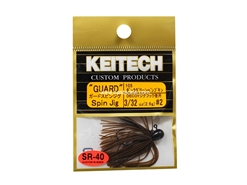 Keitech - Guard Spin Jig - DARK GREEN PUMPKIN PP 105 (3/32oz) - Tungsten Skirted Jig Head | Eastackle