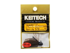 Keitech - Guard Spin Jig - DARK GREEN PUMPKIN PP 105 (5/32oz) - Tungsten Skirted Jig Head | Eastackle