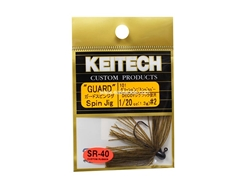 Keitech - Guard Spin Jig - GREEN PUMPKIN PP 101 (1/20oz) - Tungsten Skirted Jig Head | Eastackle