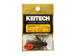 Keitech - Guard Spin Jig - GREEN PUMPKIN PP 101 (5/32oz) - Tungsten Skirted Jig Head | Eastackle