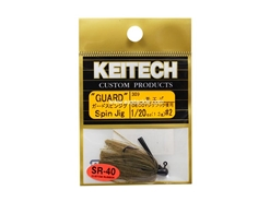 Keitech - Guard Spin Jig - SAHARA OLIVE FLK 309 (1/20oz) - Tungsten Skirted Jig Head | Eastackle