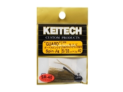 Keitech - Guard Spin Jig - SAHARA OLIVE FLK 309 (5/32oz) - Tungsten Skirted Jig Head | Eastackle