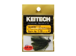 Keitech - Guard Spin Jig - WATERMELON PP 102 (1/20oz) - Tungsten Skirted Jig Head | Eastackle