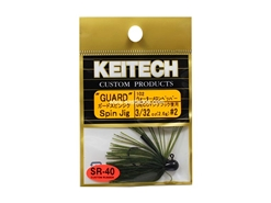 Keitech - Guard Spin Jig - WATERMELON PP 102 (3/32oz) - Tungsten Skirted Jig Head | Eastackle