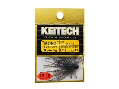 Keitech - Mono Spin Jig - BLUEGILL TIGER 322 (1/16oz) - Tungsten Skirted Jig Head | Eastackle
