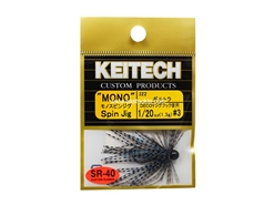 Keitech - Mono Spin Jig - BLUEGILL TIGER 322 (1/20oz) - Tungsten Skirted Jig Head | Eastackle