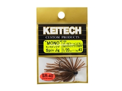 Keitech - Mono Spin Jig - DARK GREEN PUMPKIN PP 105 (1/20oz) - Tungsten Skirted Jig Head | Eastackle