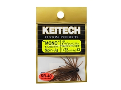 Keitech - Mono Spin Jig - DARK GREEN PUMPKIN PP 105 (1/32oz) - Tungsten Skirted Jig Head | Eastackle