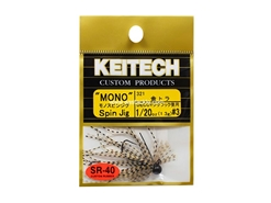 Keitech - Mono Spin Jig - GOLD TIGER 321 (1/20oz) - Tungsten Skirted Jig Head | Eastackle