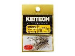 Keitech - Mono Spin Jig - GOLD TIGER 321 (1/32oz) - Tungsten Skirted Jig Head | Eastackle