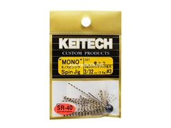 Keitech - Mono Spin Jig - GOLD TIGER 321 (3/32oz) - Tungsten Skirted Jig Head | Eastackle