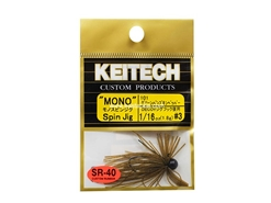 Keitech - Mono Spin Jig - GREEN PUMPKIN PP 101 (1/16oz) - Tungsten Skirted Jig Head | Eastackle