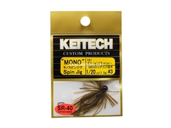 Keitech - Mono Spin Jig - GREEN PUMPKIN PP 101 (1/20oz) - Tungsten Skirted Jig Head | Eastackle