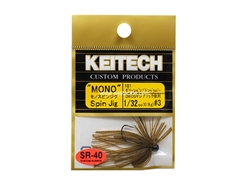 Keitech - Mono Spin Jig - GREEN PUMPKIN PP 101 (1/32oz) - Tungsten Skirted Jig Head | Eastackle