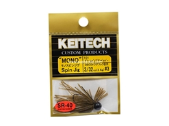 Keitech - Mono Spin Jig - GREEN PUMPKIN PP 101 (3/32oz) - Tungsten Skirted Jig Head | Eastackle