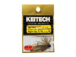 Keitech - Mono Spin Jig - SAHARA OLIVE FLK 309 (1/16oz) - Tungsten Skirted Jig Head | Eastackle
