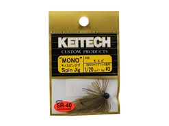 Keitech - Mono Spin Jig - SAHARA OLIVE FLK 309 (1/20oz) - Tungsten Skirted Jig Head | Eastackle