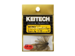 Keitech - Mono Spin Jig - SAHARA OLIVE FLK 309 (1/32oz) - Tungsten Skirted Jig Head | Eastackle