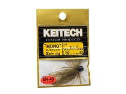 Keitech - Mono Spin Jig - SAHARA OLIVE FLK 309 (3/32oz) - Tungsten Skirted Jig Head | Eastackle