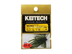 Keitech - Mono Spin Jig - WATERMELON PP 102 (1/32oz) - Tungsten Skirted Jig Head | Eastackle