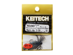 Keitech - Round Spin Jig - BLUEGILL TIGER 322 (1/20oz) - Tungsten Skirted Jig Head | Eastackle
