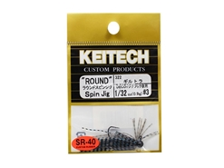 Keitech - Round Spin Jig - BLUEGILL TIGER 322 (1/32oz) - Tungsten Skirted Jig Head | Eastackle