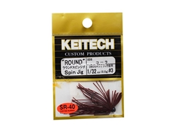 Keitech - Round Spin Jig - COLA 006 (1/32oz) - Tungsten Skirted Jig Head | Eastackle