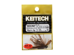 Keitech - Round Spin Jig - DARK GREEN PUMPKIN PP 105 (1/20oz) - Tungsten Skirted Jig Head | Eastackle