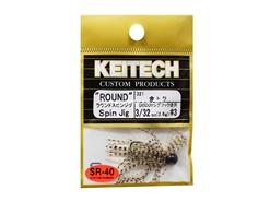 Keitech - Round Spin Jig - GOLD TIGER 321 (3/32oz) - Tungsten Skirted Jig Head | Eastackle