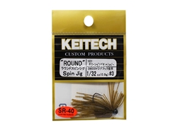 Keitech - Round Spin Jig - GREEN PUMPKIN PP 101 (1/32oz) - Tungsten Skirted Jig Head | Eastackle
