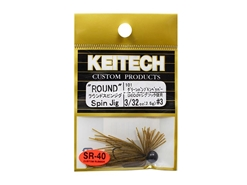 Keitech - Round Spin Jig - GREEN PUMPKIN PP 101 (3/32oz) - Tungsten Skirted Jig Head | Eastackle
