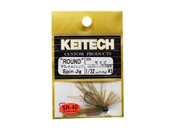 Keitech - Round Spin Jig - SAHARA OLIVE FLK 309 (1/32oz) - Tungsten Skirted Jig Head | Eastackle