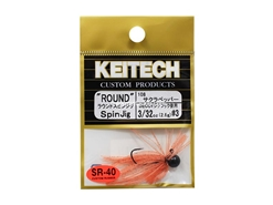 Keitech - Round Spin Jig - SAKURA 108 (3/32oz) - Tungsten Skirted Jig Head | Eastackle
