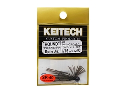 Keitech - Round Spin Jig - SILVER FLASH MINNOW 416 (1/16oz) - Tungsten Skirted Jig Head | Eastackle