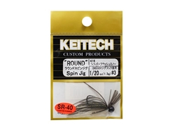 Keitech - Round Spin Jig - SILVER FLASH MINNOW 416 (1/20oz) - Tungsten Skirted Jig Head | Eastackle