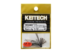 Keitech - Round Spin Jig - SILVER FLASH MINNOW 416 (1/32oz) - Tungsten Skirted Jig Head | Eastackle