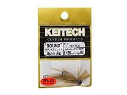 Keitech - Round Spin Jig - WAKASAGI 412 (1/20oz) - Tungsten Skirted Jig Head | Eastackle