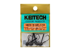 Keitech - Tungsten Fine Guard Jig Head - #2 (3/32oz) - Tungsten Jig Head | Eastackle