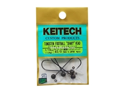 Keitech - Tungsten Football Shaky Jig Head - #2/0 (1/16oz) - Tungsten Jig Head | Eastackle