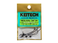 Keitech - Tungsten Football Shaky Jig Head - #2/0 (1/20oz) - Tungsten Jig Head | Eastackle