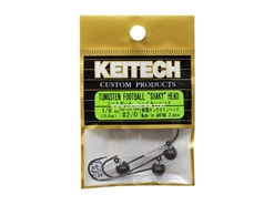 Keitech - Tungsten Football Shaky Jig Head - #2/0 (1/8oz) - Tungsten Jig Head | Eastackle