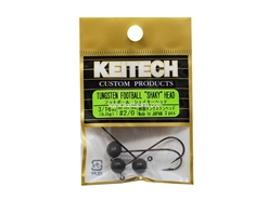 Keitech - Tungsten Football Shaky Jig Head - #2/0 (3/16oz) - Tungsten Jig Head | Eastackle