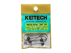 Keitech - Tungsten Football Shaky Jig Head - #2/0 (3/32oz) - Tungsten Jig Head | Eastackle
