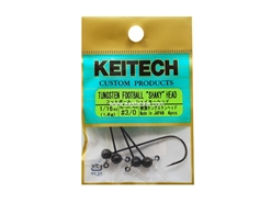Keitech - Tungsten Football Shaky Jig Head - #3/0 (1/16oz) - Tungsten Jig Head | Eastackle
