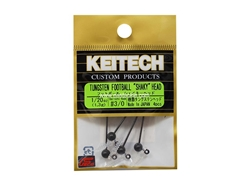 Keitech - Tungsten Football Shaky Jig Head - #3/0 (1/20oz) - Tungsten Jig Head | Eastackle