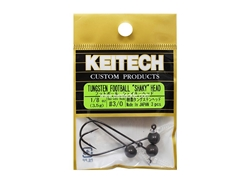 Keitech - Tungsten Football Shaky Jig Head - #3/0 (1/8oz) - Tungsten Jig Head | Eastackle