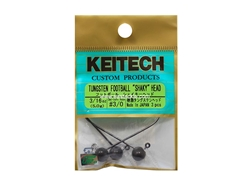 Keitech - Tungsten Football Shaky Jig Head - #3/0 (3/16oz) - Tungsten Jig Head | Eastackle