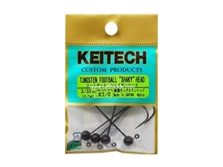 Keitech - Tungsten Football Shaky Jig Head - #3/0 (3/32oz) - Tungsten Jig Head | Eastackle