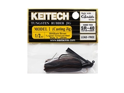 Keitech - Tungsten Rubber Jig - MODEL I - BLACK BROWN 004 (1/2oz) - Skirted Jig Heads | Eastackle