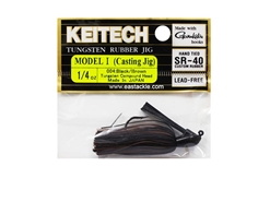 Keitech - Tungsten Rubber Jig - MODEL I - BLACK BROWN 004 (1/4oz) - Skirted Jig Heads | Eastackle